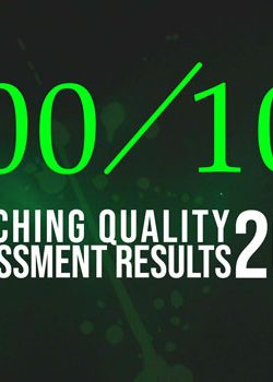 Teaching quality assessment results 2018