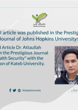 Publication of an ISI Article in the Prestigious Journal of John Hopkins University.